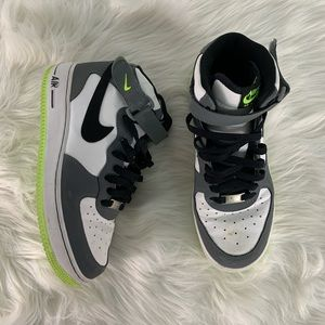 Nike Green and White Air Force 1s Size 7Y